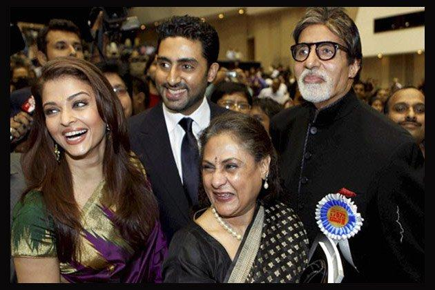 Amitabh,Jaya,Abhishek And Aishwarya Clicked At A Function