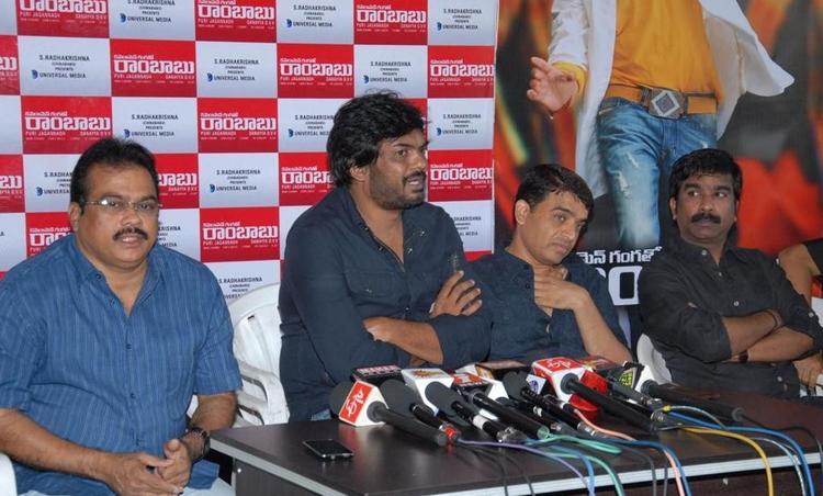Puri Jagannath,DVV Danayya And Dil Raju At Cameraman Ganga Tho Rambabu Movie Press Meet