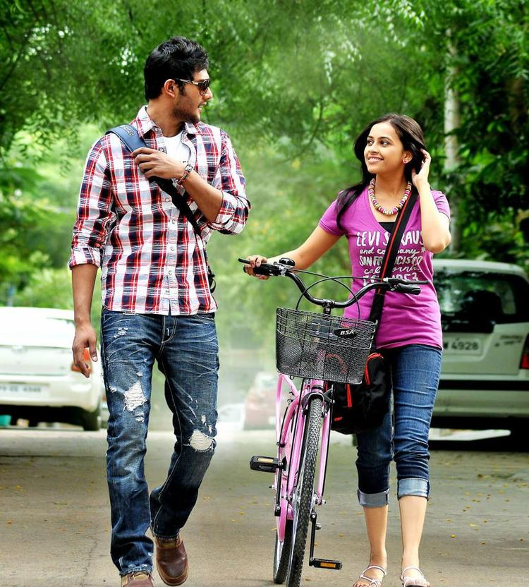 Prince And Sri Divya A Still From Bus Stop Movie