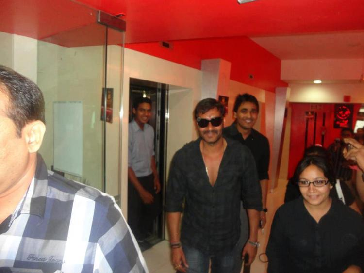 Ajay Devgan At Noida 93.5 FM For Promoting Son of Sardar