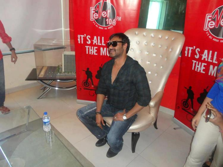 Ajay Devgan Stylish Look At 93.5 Red FM