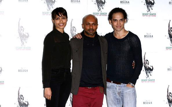 Freida And Akram At The Desert Dancer Photocall Event