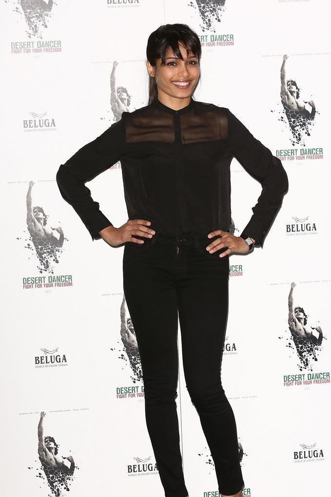 Freida Pinto Strikes A Pose At The Photocall For Desert Dancer