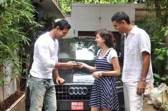 John Abraham Gifts Audi Q Life To His Sister-In-Law For Her Birthday