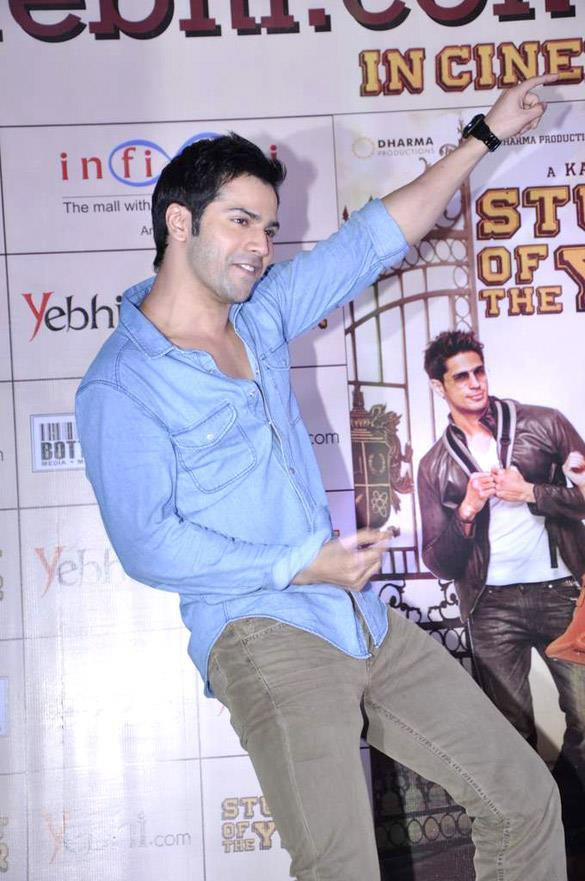 Varun Rocking On The Stage During Promo Of SOTY