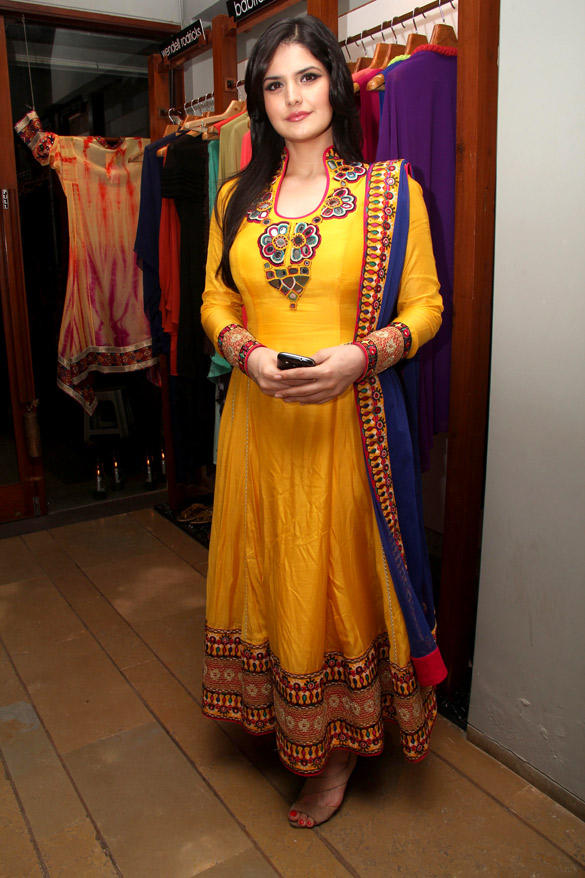 Zarine Khan During At Fuel Store Launch