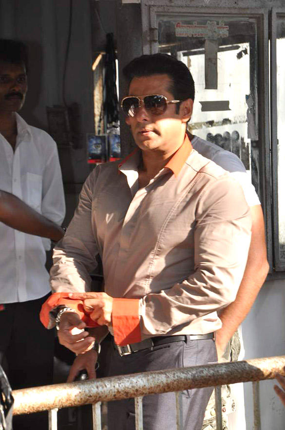 Salman Khan At Bigg Boss For Launching Tour Bus