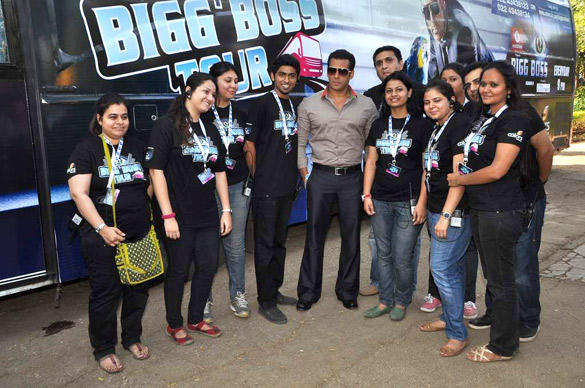 Salman Khan With Fans At Bigg Boss
