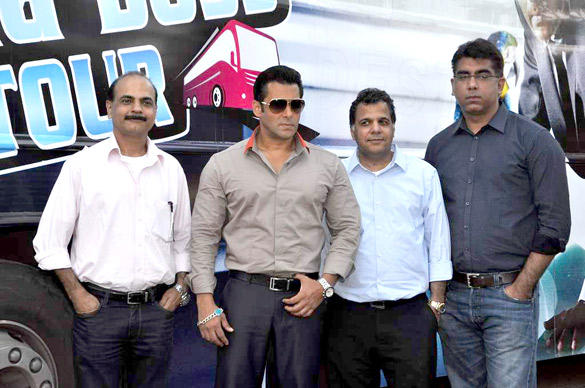 Salman Spotted At Bigg Boss During Tour Bus Launching Event