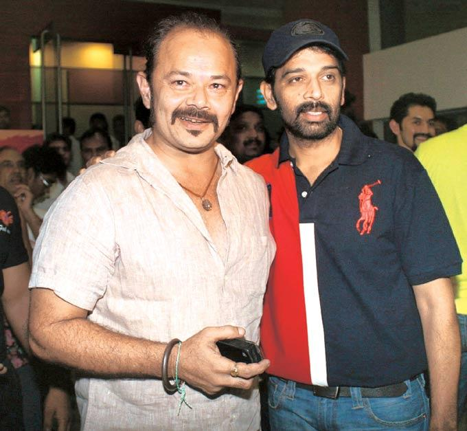 Raj And JD Chakravarthy Catching Up At  Bhoot Returns Screening Event