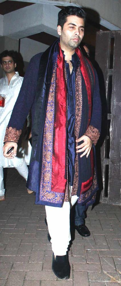 Karan Johar Spotted At Saif And Kareena Sangeet Ceremony