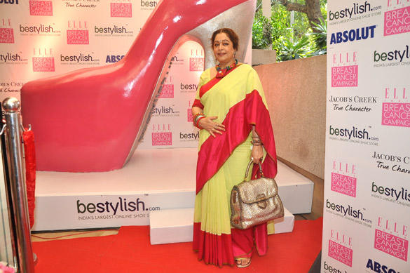 Kirron Kher Poses During The Elle Breast Cancer Campaign