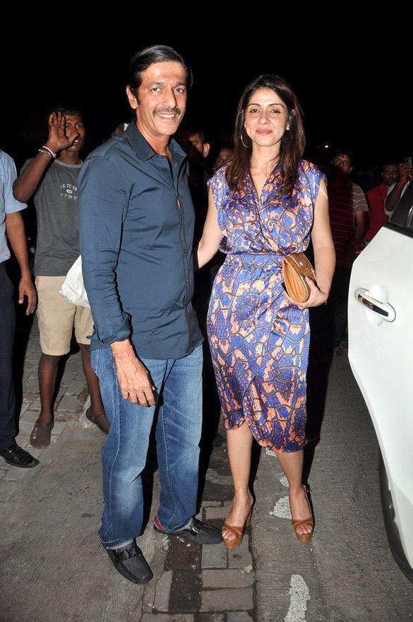 Chunkey With Wife Bhavna During Birthday Bash Of Zoya Akhtar