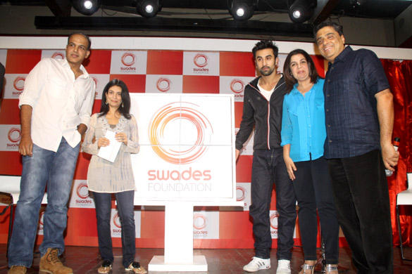 Ranbir,Farah,Ashutosh And Others During The  Launch of Swades Foundation New Logo