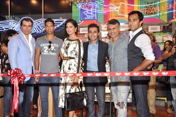Marco,Siddhartha,Sameera,Anurag,Arjun And Rahul Attend The Launch Of The Kiehl Store