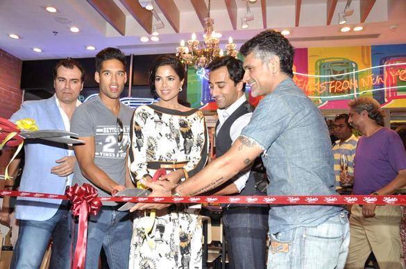 Marco,Siddhartha,Sameera,Anurag,Arjun And Rahul Inagurates The Newest Kiehls Store At Palladium