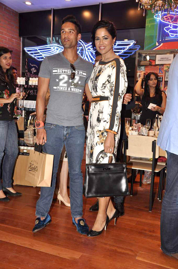 Sameera And Siddhartha At The Launch Of Kiehl Store