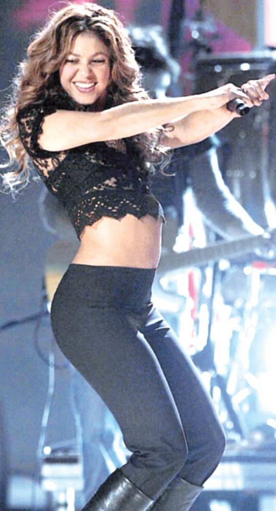 Sexy Shakira Hot In Dancing Pose Still