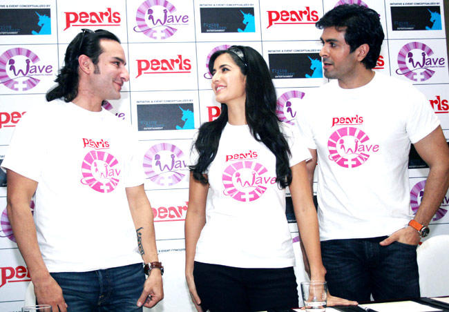 Saif With Katrina Kaif And Harman Baweja At An Event