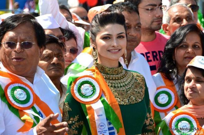 Prachi Desai During New Jersey India Day Parade
