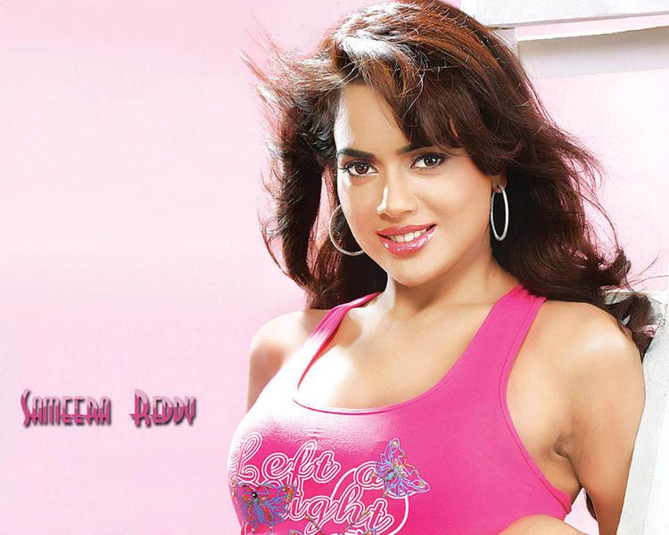 Sameera Reddy In Pink Still