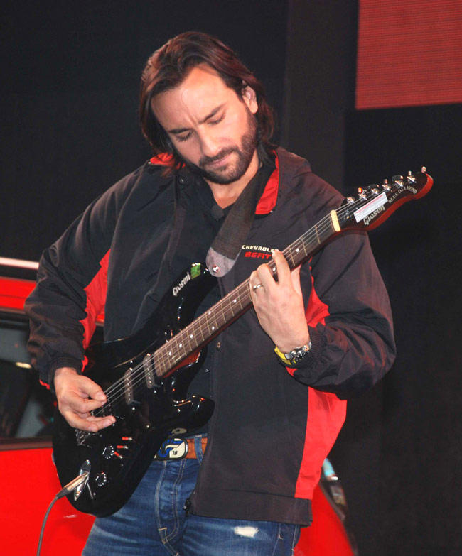 Saif In Playing Guitar Still