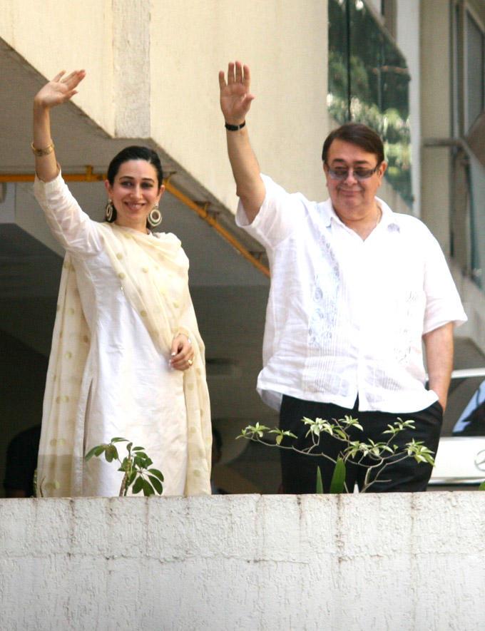 Karisma And Randhir Spotted At After Marriage Of Saif And Kareena