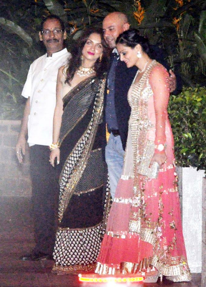 Atul AgnihotriAnd Wife Alvira At Saifeena Wedding Event