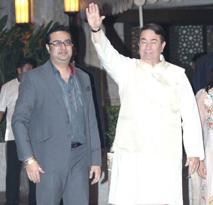 Randhir Kapoor Give A Snap At Saifeena Wedding Event