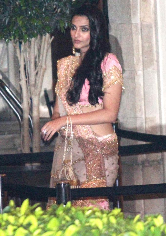 Sonam At Saifeena Nikaah