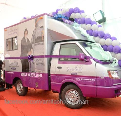 Pink Mobile Diabetes Detection Van At Mumbai