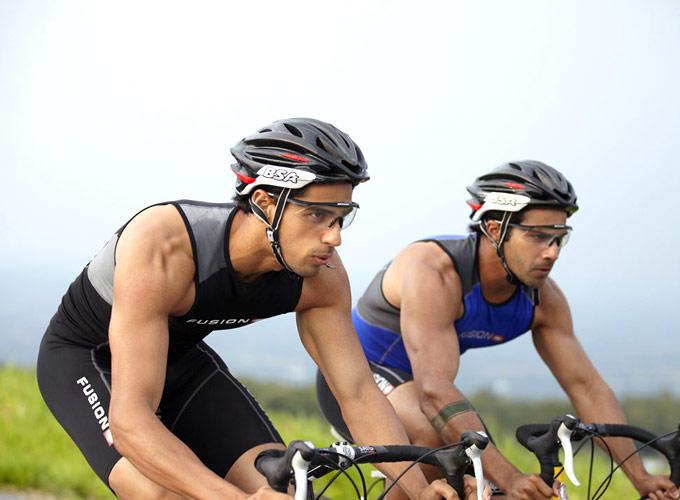 Siddharth And Varun Cycling Pic Still