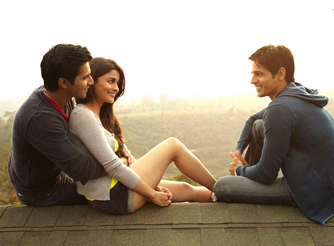 Siddharth,Alia And Varun A Cool Still From SOTY