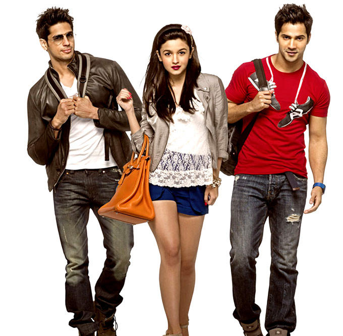 Siddharth,Alia And Varun In SOTY Movie Poster