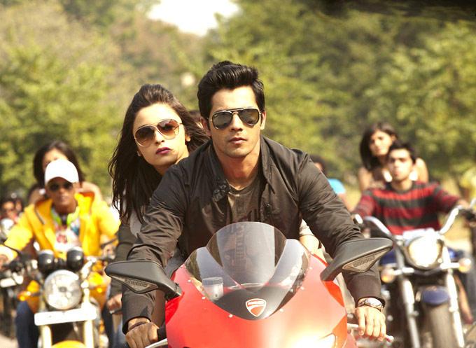 Varun And Alia In A Bike Still