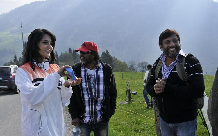 Anushka On The Sets Of Damarukam