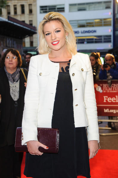 Natalie Coyle In Red Carpet During The Premiere Show Of Midnight Children