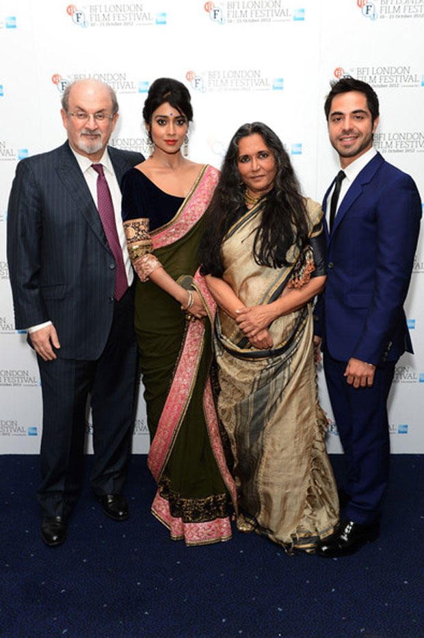 Salman Rushdie,Shriya Saran,Satya Bhabha And Deepa Mehta Still At 56th BFI London Film Festival Premiere Event