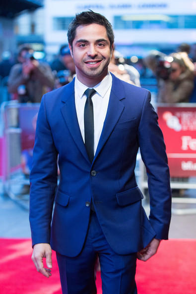 Satya Bhabha In Navy Blue Suit At The 56th BFI London Film Festival Premiere Event