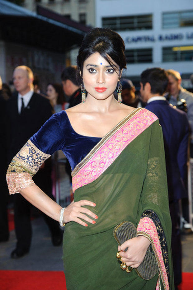 Shriya The Beautiful Lady At The Premiere Of Midnight's Children