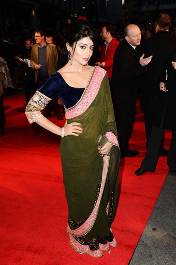 Shriya On Red Carpet Still At The Premiere Of Midnight's Children