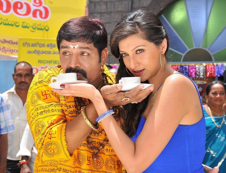 Sri Hari And Hamsa A Still From Tea Samosa Biscuit Movie
