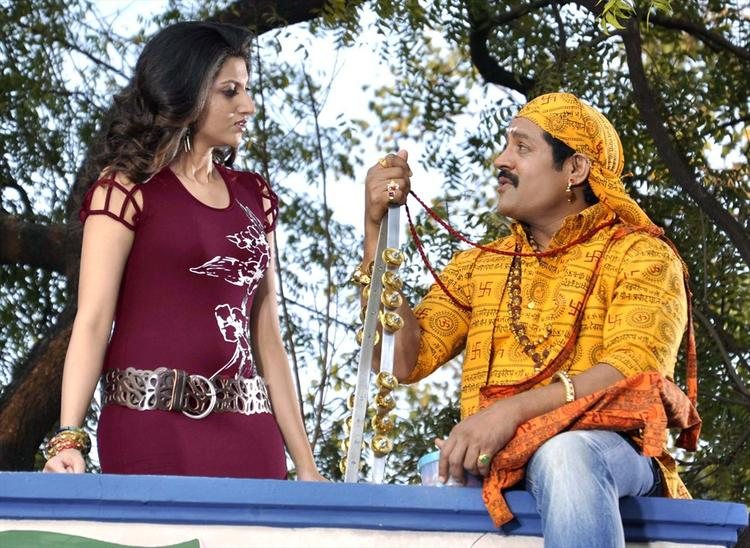 Sri Hari And Hamsa A Still From Upcoming Movie Tea Samosa Biscuit