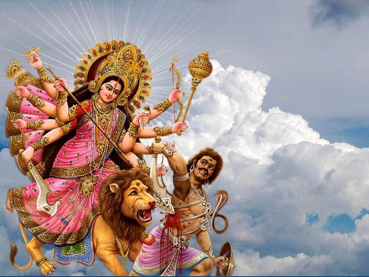 A Beautiful Greeting Cards Of Navratri Festival