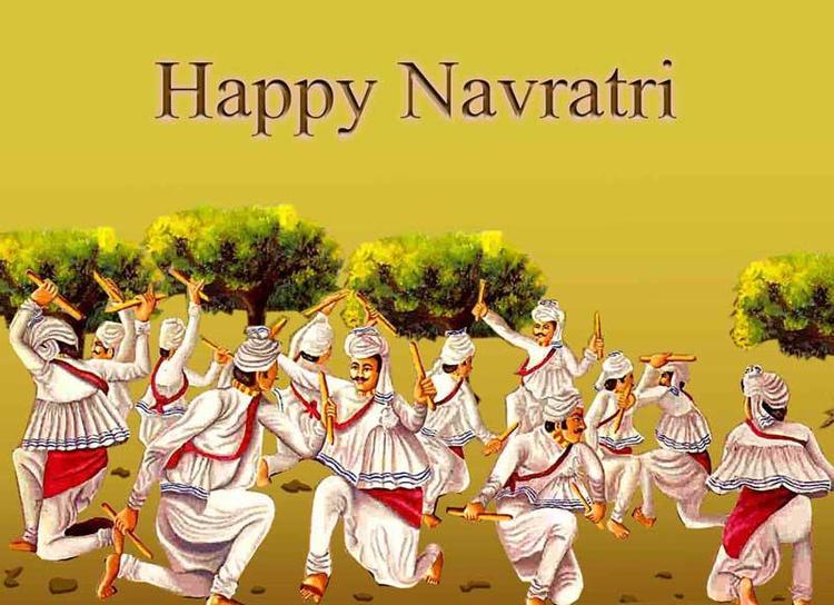 Dandiya Dance Photo In Navratri Greetings