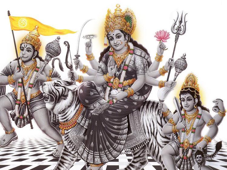 Goddess Durga In Mahishamardini Avatar