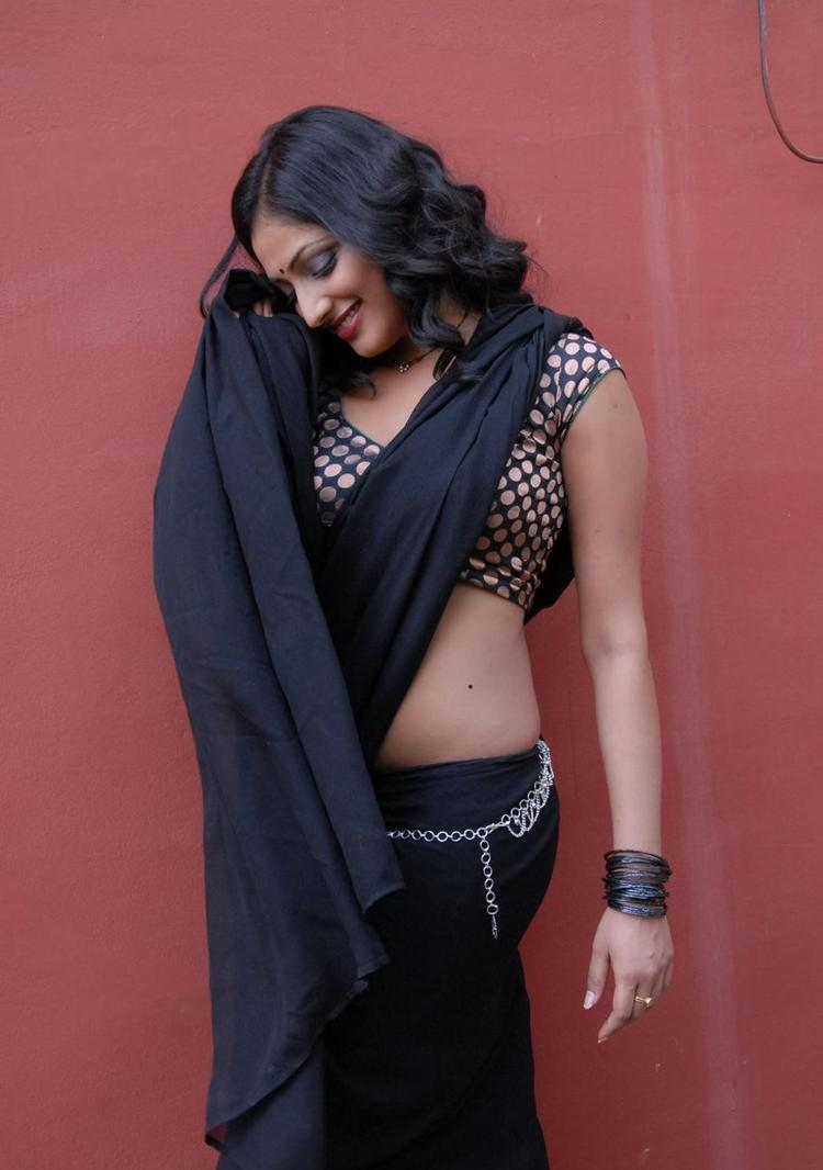 Haripriya Hot Black Saree Pics  Movie Abbayi Class Ammayi Mass Press Meet in Hyderabad