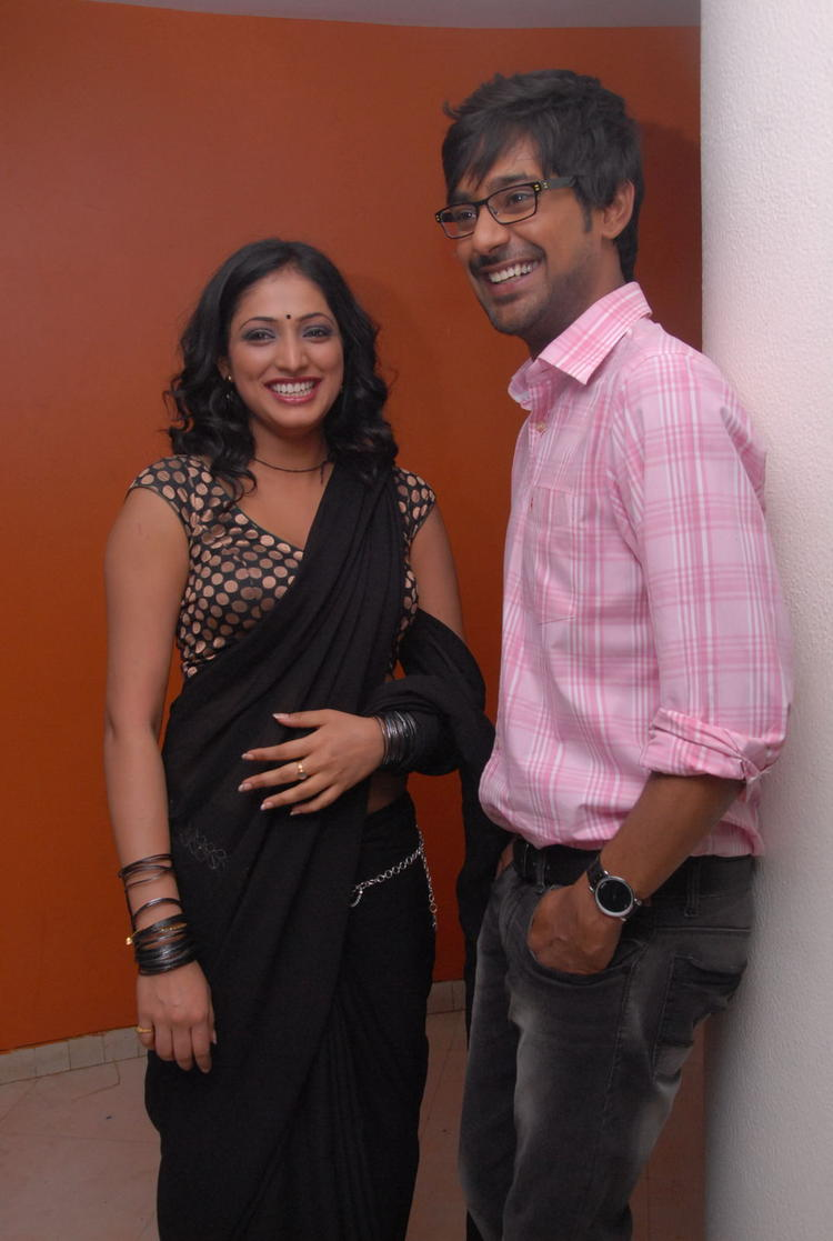 Varun Sandesh And Haripriya Still At Abbai Class Ammai Mass Press Meet Event