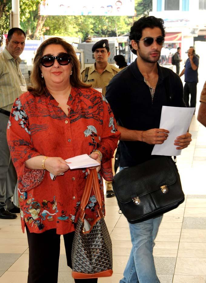 Reema Jain with son Armaan Still