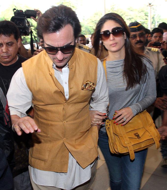 Saif With Wife Kareena At Mumbai Airport